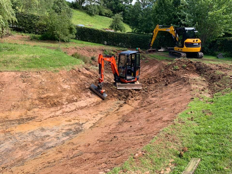 small digger being operated