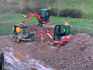 diggers working on foundations